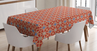Curvy Lines Circles Tile Tablecloth