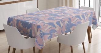 Palm Leaves Soft Tones Tablecloth