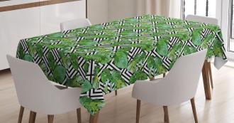 Macro Palm Tree Leaves Tablecloth