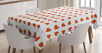 Hearts Cute Honeymoon Tablecloth