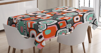 Funk Lava Flowers Forms Tablecloth