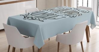 Motivational Lifestyle Tablecloth