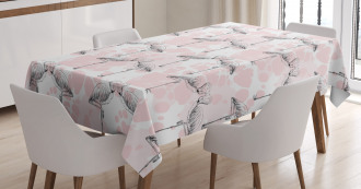 Hearts Love Valentines Tablecloth