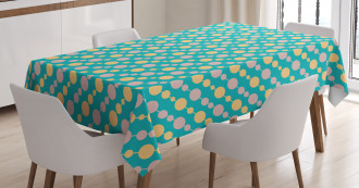 Vintage Circles Rounds Tablecloth