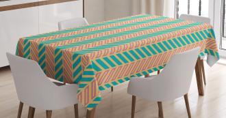Retro Zigzag Lines Tablecloth