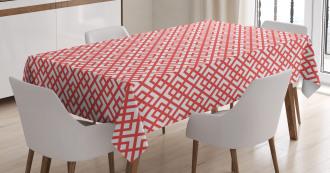 Horizontal Image with Diamond Tablecloth