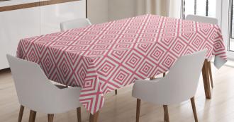 Mosaic Square Shapes Tile Tablecloth
