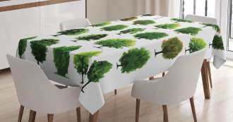 Pines Planes Bushes Tree Tablecloth