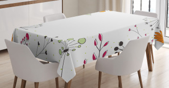 Geometric Flowers Floral Tablecloth
