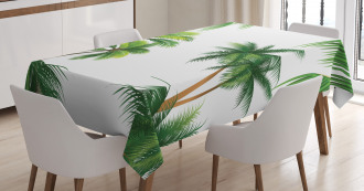 Coconut Palm Tree Plants Tablecloth
