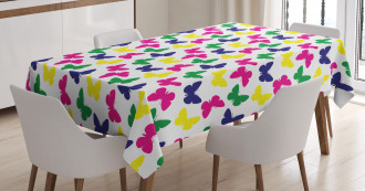Romantic Butterfly Kids Tablecloth