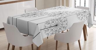 Digital Flower Dandelion Tablecloth