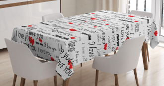 Romance Couple Love Tablecloth