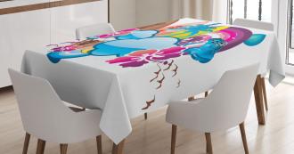 Season Hot Beach Vbes Tablecloth