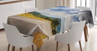 Road Hot Sunny Road Tablecloth