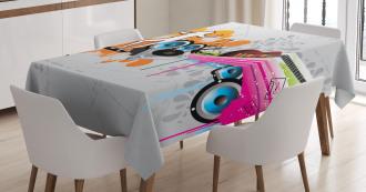 Music Funky Urban Nights Tablecloth