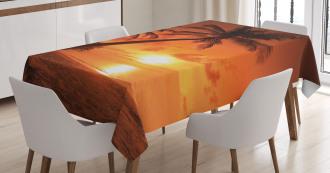 Twilight Coconut Palms Tablecloth