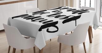 Smile Motivational Letter Tablecloth