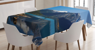Winter Mountain Trees Tablecloth