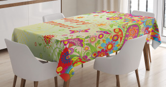 Leaves Paisley TableCloth