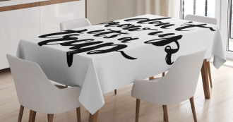 Motivational Life Letters Tablecloth