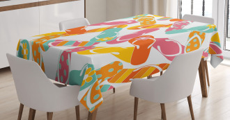 Summer Holiday Sandals Tablecloth
