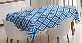 Geometric Diamond Form Tablecloth