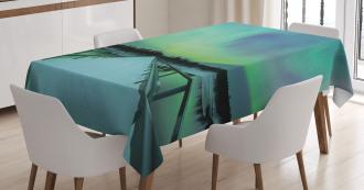 Bridge Snowy Arctic Tablecloth