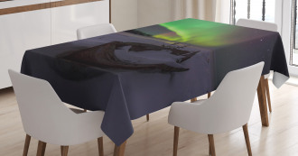 Boat and Galaxy Tablecloth
