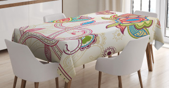 Flower Petal Shabby Chic Tablecloth