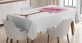 Blossom Buds Sakura Tree Tablecloth