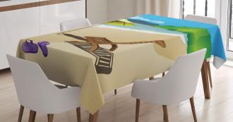 Sunshine Sand Waves TableCloth