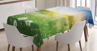 Dandelion Flower Field Tablecloth