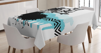Young Boy Skater Exotic Tablecloth
