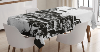 Grunge Wall Tablecloth