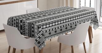 Geometric Ribbon Stripes Tablecloth