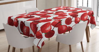 Cherry Picnic Spring Fruits Tablecloth