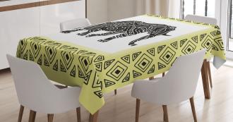 Tribal Animal Graphic Tablecloth