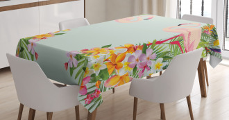 Tropic Flowers Animals Tablecloth