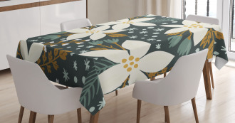 Poinsettia Blossoms Art Tablecloth