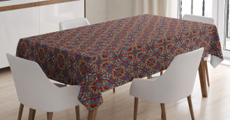 Kaleidoscope Stained Tablecloth