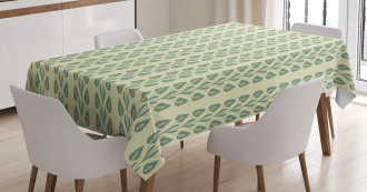 Graphic Flowers Branches Tablecloth