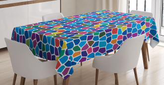 Vivid Mosaic Design Tablecloth