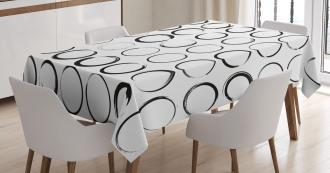 Circle Brush Stroke Tablecloth