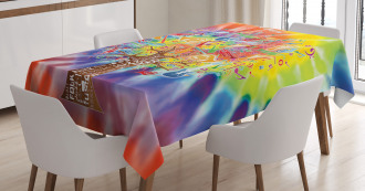 Music Tree Instruments Tablecloth