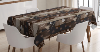 Coffee Typo Hearts Beans Tablecloth