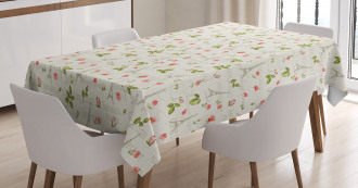 Paris French Flowers Tablecloth