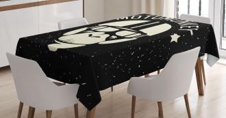 Alien Monkey Sign Tablecloth