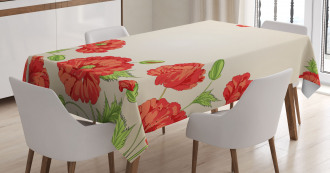 Card with Poppy Flowers Tablecloth