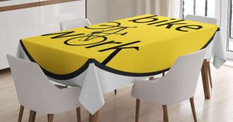 Healthy Life Theme Tablecloth